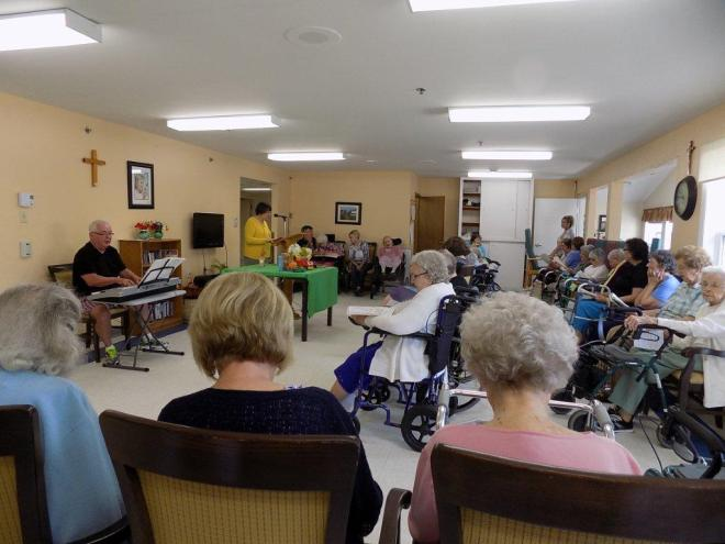 Image result for worship services nursing home images