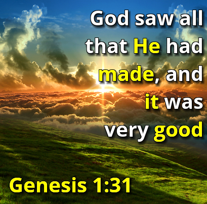 Image result for god saw and it was good images
